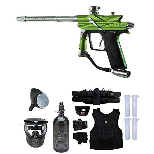 Maddog Azodin Blitz 3 Starter Protective HPA Paintball Gun Package - Green