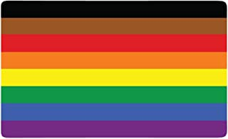 Dark Spark Decals All Inclusive Gay LGBT Pride Flag - (5in Wide) Full Color Vinyl Decal for Indoor or Outdoor use, Cars, Laptops, Décor, Windows, and More