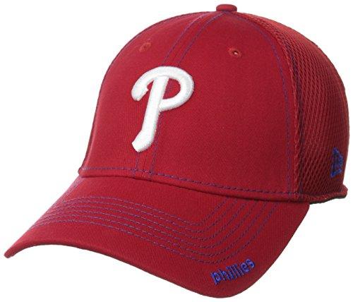 MLB Philadelphia Phillies Neo Fitted Baseball Cap, Scarlet, Small/Medium