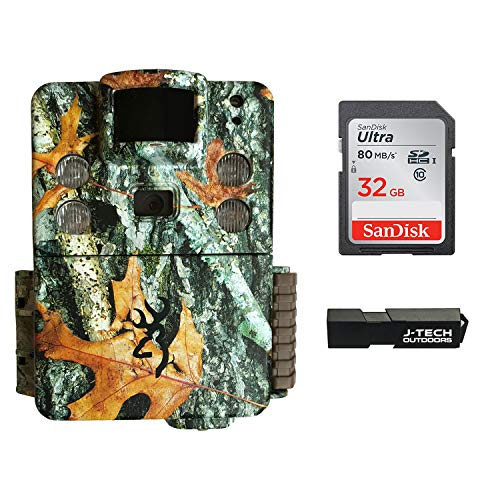 Browning Strike Force HD Pro X Trail Game Camera Bundle Includes 32GB Memory Card and J-TECH Card Reader (20MP) | BTC5HDPX