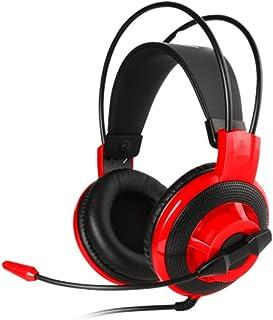MSI DS501 Biauricular Diadema Negro, Rojo auricular con micrófono - Auriculares con micrófono (PC/Juegos, Biauricular, Diadema, Negro, Rojo, Alámbrico, 2.1 m)