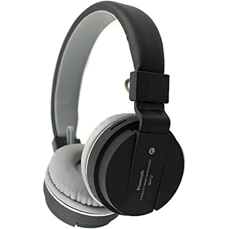 SH-12 Wireless Bluetooth Over the Ear Headphone with Mic (multicolour)
