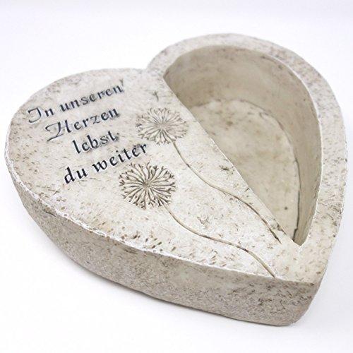 Grabherz zum bepflanzen, Spruch, In unseren Herzen lebst du weiter. 19cm. 1 Stück