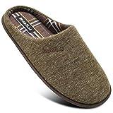 Zapatillas de Estar en Casa Hombre cómodo Espuma de Memoria Pantuflas Con Antideslizante Suela Marrón Talla 43