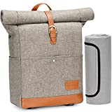 HappyPicnic Picnic Backpack with Cooler Compartment Classic Insulated Bag with Waterproof Blanket