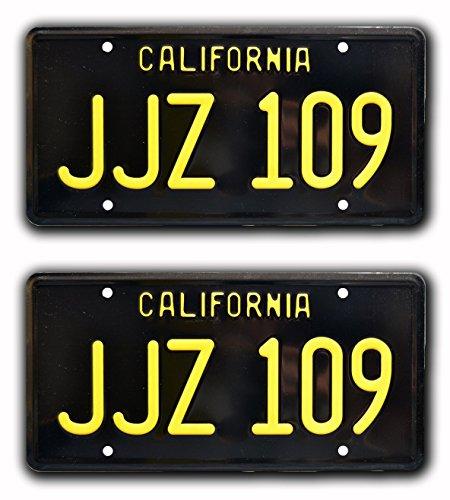 Celebrity Machines Bullitt | '68 Mustang | JJZ 109 | Metal Stamped License Plates