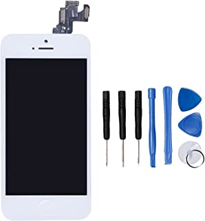 LL TRADER LCD for iPhone 5c White Display Touch Screen Digitizer Glass Lens Full Assembly Repair Replacement for iPhone 5c White (includes Small Parts like Camera, Sensor Flex, Shield Plate)