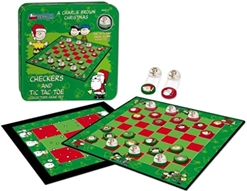 Checkers Tic Tac Toe Tin Charlie braun Christmas