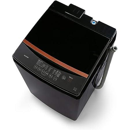 アイリスオーヤマ 洗濯機 8kg ブラックレーベル 全自動 部屋干しモード ガラストップ ステンレス槽 IAW-T803BL