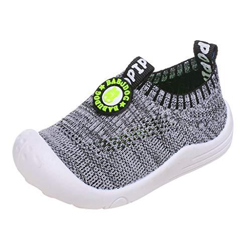Riou Zapatillas Deportivas Unisex para niños y niñas Casuales Antideslizante Zapatillas Tejido Hueco Transpirable Calzado Deportivo Calcetines Zapatos Ligeras