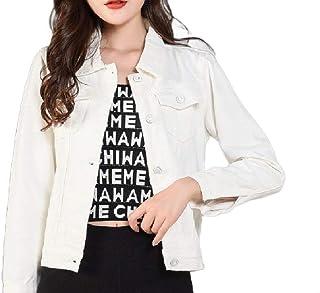 XINHEO Womens Slim Fitted Summer Fashion Button Down Denim Jacket