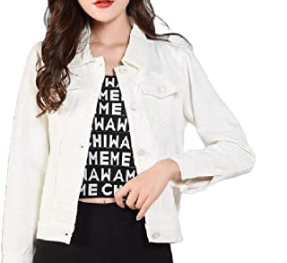 MogogoWomen Stylish Summer Button Closure Slim Fitted Denim Jacket