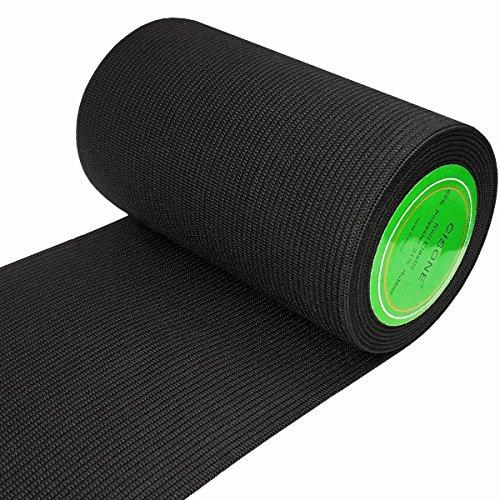 Knit Elastic 4 Inch Wide Black Heavy Stretch High Elasticity Knit Elastic Band 3 Yards