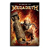 BGJK Music Poster Megadeth Heavy Metal Canvas Art Poster and Wall Art Picture Print Modern Family Bedroom Decor Posters 12×18inch(30×45cm)