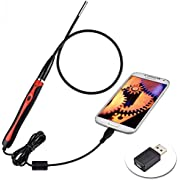 Endoscope, Borescope USB Inspection Camera 5.5mm Diameter with 6 LED Waterproof Snake Inspection Camera for Android and PC