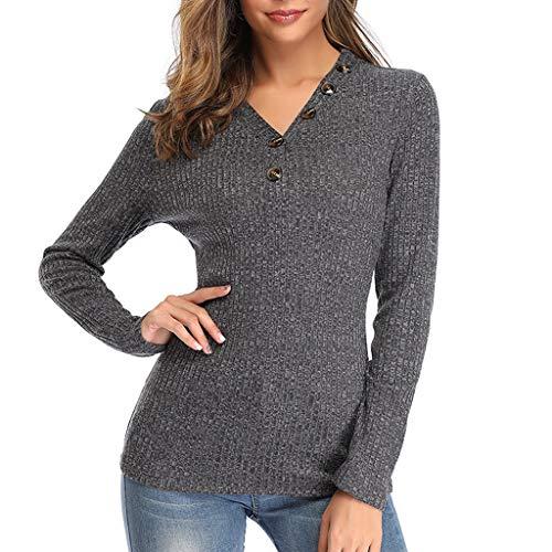 AIni Damen Festlich Elegant 2019 Neuer Pullover Große Größen Gestrickte Solide Langarm O-Ausschnitt T Shirt Pullover Bluse Party Abend Warm Coat Jacke Mäntel