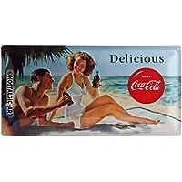 Nostalgic-Art Cartel de Chapa 25x50 -Coca-Cola