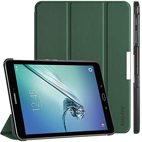 EasyAcc Samsung Galaxy Tab S2 9.7 Hülle, Ultra Dünn Hülle mit Standfunktion/Auto Wake up/Sleep Funktion PU Leder Hüllen für Samsung Galaxy Tab S2 9.7 Zoll (T810/ T813/ T815/ T819) Dunkelgrün