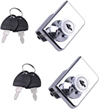 2 Pack Double-Open Glass Door Display Cabinet Display Cabinet Safety Lock, Suitable for 0.2-0.31