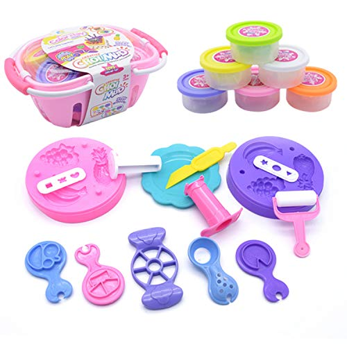 CUHAWUDBA Color Play Dough Model Tool Toys 3D Plasticine Tools Playdough Set Clay Moulds Deluxe Set Learning Education Toys,C
