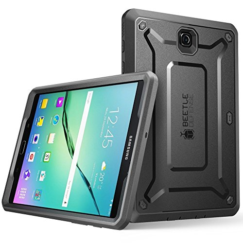 SUPCASE Cover Galaxy Tab S2 9,7', Custodia Rigida con Protezione dello Schermo Integrata [Unicorn Beetle PRO Series] Rugged Case per Samsung Galaxy Tablet S2 9,7' 2015, Nero