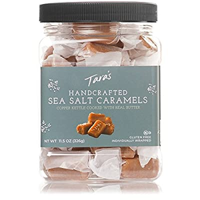 Tara's All Natural Handcrafted Gourmet Sea Salt Caramel: Small Batch, Kettle Cooked, Creamy & Individually Wrapped - 11.5 Ounce