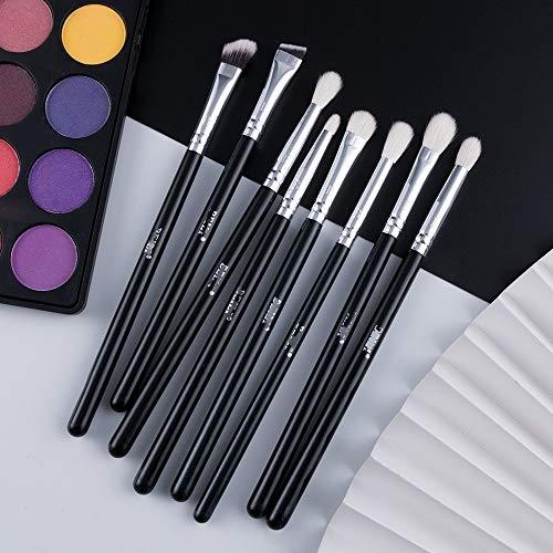 8pcs Classic Black Pro Makeup Brushes Goat Synthetic Hair Eye Shadow Brow Blending Smoky Makeup Brush Set