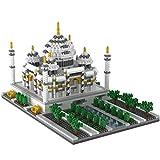 Juguetes Modelo De Referencia Mundial, Patrimonio Cultural Mundial Taj Mahal Artesanía Grande En 3D Rompecabezas En Miniatura De Diamantes Juguetes De Bloques-Taj Mahal