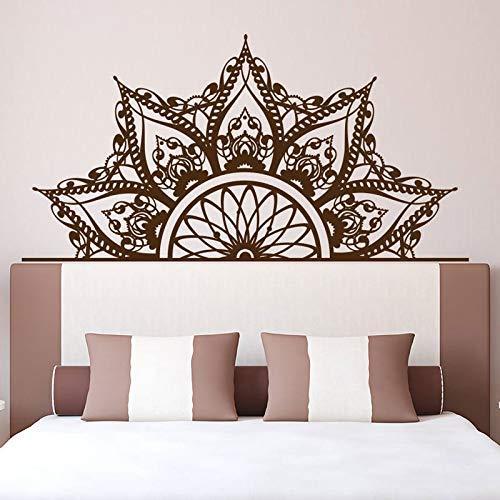 Halv mandala sänggavel väggdekaler säng huvuddekaler sovrum dekaler mandala klistermärken sovrum dekoration tapet dekaler 82 x 42 cm