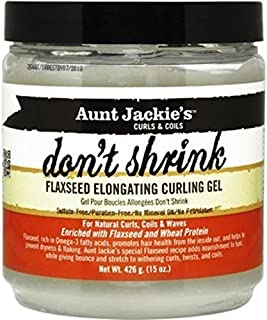 Aunt Jackie's Don't Shrink Flaxseed Elongating Curling Gel, 440ml by Aunt Jackie's