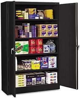 Tennsco J2478SUBK Assembled Jumbo Steel Storage Cabinet, 48w x 24d x 78h, Black