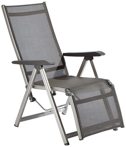 Kettler Basic Relaxliege Aluminium - Praktische Klappliege - Liegestuhl verstellbar & leicht zusammenklappbar - Wetterfeste Gartenmöbel