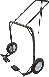 Black Ice Snowmobile Dolly Cart, Hoist & Lift with Large Pneumatic Wheels