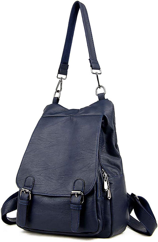 PU Leder Leder Leder Damen Rucksack Reisetasche 29  18  35cm Reißverschluss fünf Farben. (Farbe   Dunkelblau) B07KXF98RC  Ausgezeichnete Funktion 727d59