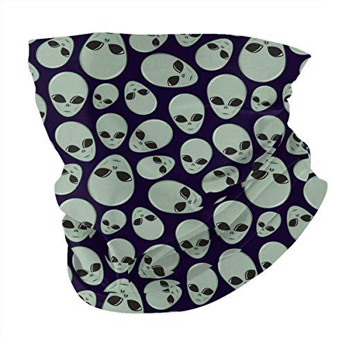 Alien Head Windproof Face Cover Neck Gaiter, UV Sun Protection Motorcycle Bandana Balaclava Headwear