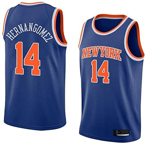 Jersey de Baloncesto de los Hombres NBA New York Knicks 14# Willy Hernangomez Classic Teléfono Transpirable Clásico Retro Moda Vestima sin Mangas Camiseta (Color : B, Size : X-Large)
