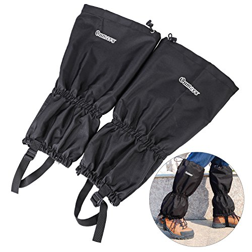 Oumers High Thicken Snow Leg Gaiters, Winter Keep Warm Waterproof Breathable Wraps Leg Boot Covers for Hiking Ski Climbing Hunting Walking Snowshoeing Mountaineering Ice Equipment