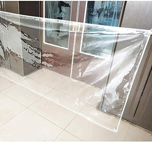 FFJD Clear Tarp PVC Tarpaulin for Sun and Rain Waterproof Aging Resistant Tear Resistant Cold Resistant Durable Tarpaulin-1.2m×2m
