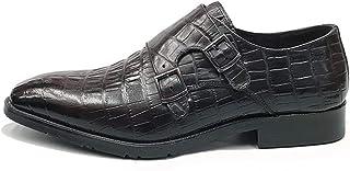Rui Landed Oxford Classique à lanière pour Hommes en Cuir avec Motif de Crocodile à la Main, Chaussures à Bout carré boîte...