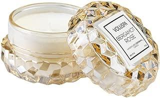 Voluspa Bergamot Rose Macaron Textured Glass Candle, 1.8 Ounces