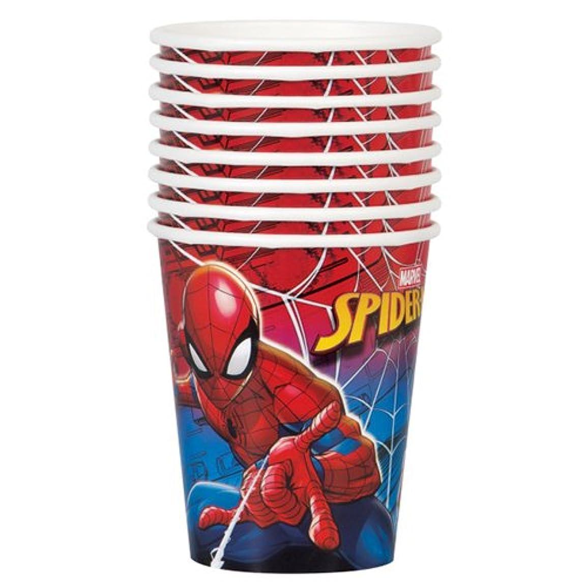 バルーンコンデンサースパンスパイダーマン パーティーペーパーカップ 8個入り 紙コップ ペーパーカップ パーティー SPIDER-MAN マーベルコミック MARVEL キャラクターグッズ AVENGERS 13268【即日?翌日発送】