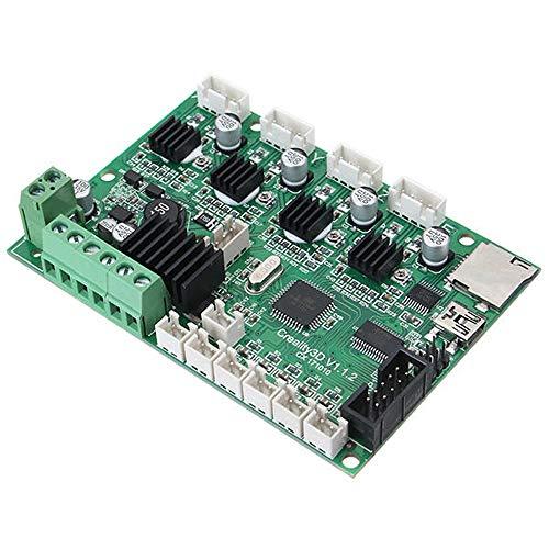 BaoYPP USB-Anschluss und Power Chip CR-10 12V 3D-Drucker Mainboard Systemsteuerung 3D-Drucker-Controller-Karte (Farbe : Grün, Size : One Size)