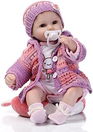 Reborn Soldering Baby Dolls Girl Realistic Weighted Real Body Recommendation Inch 18