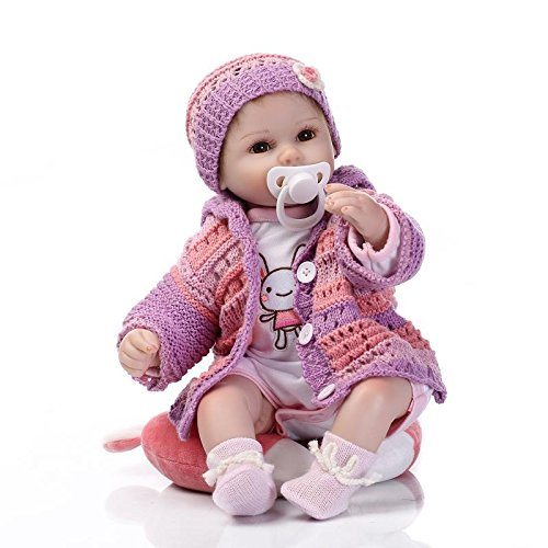 NPK 16 inch 42 cm Environmental Soft Silicone Body Simulation Reborn Doll high-end Children's Toys Early Education Props 1 Year Old Baby Growth Partner