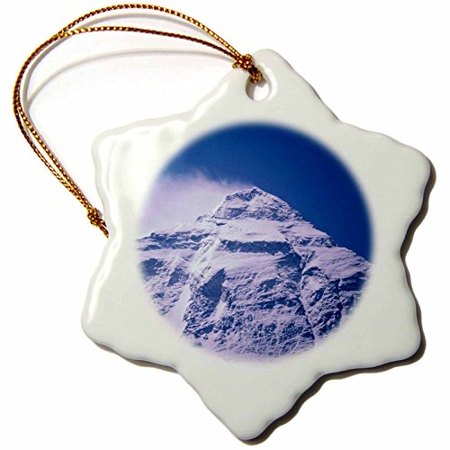 3dRose 'Snowy Summit of Mt. Everest, Tibet, China- Dave Bartruff' Snowflake Ornament, Multi-Colour, 3-Inch