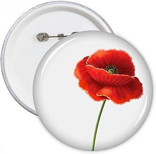 DIYthinker Simplicité Fleur rouge Art peinture Maïs Pins coquelicot Ronde Badge Bouton Vêtements Décoration cadeau 5pcs XX...