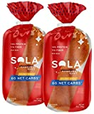 Sola Golden Wheat Hamburger Buns, Low Carb, 4 CT (Pack of 2)