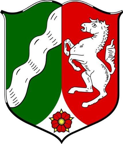 Aufkleber Nordrhein Westfalen Wappen Schild Sticker Autoaufkleber