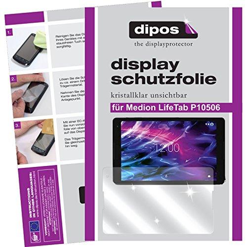dipos I 2X Schutzfolie klar kompatibel mit Medion LifeTab P10506 Folie Bildschirmschutzfolie