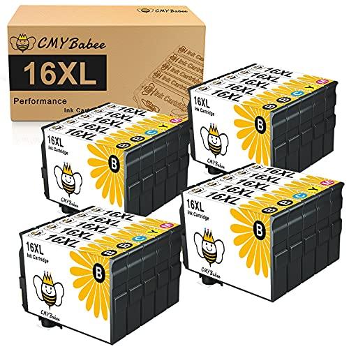CMYBabee 20Pack 16XL Cartuchos de Tinta Reemplazo para Epson 16XL 16 Compatible con Epson Workforce WF-2510 WF-2750 WF-2760 WF-2660 WF-2650 WF-2630 WF-2540 WF-2530 WF-2520 WF-2010